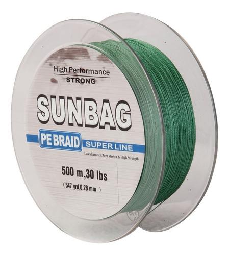 linea trenzada sunbag, 500 mts, 20, 25, 30, 40, 50 y 60 lb