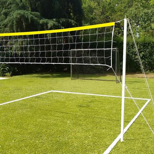 lineas cancha futbol tenis voley - cinta y clavos estaca para cancha de 6x3.m - material resistente sol y lluvia