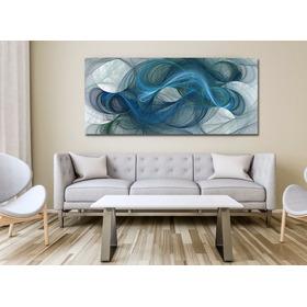 Lineas Curvas Abstracto, Cuadro Decorativo En Canvas