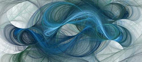 lineas curvas xl abstracto, con marco canvas cuadro decor.