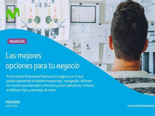 líneas movistar corporativas navega 4g internet 11.2gb 4 sim