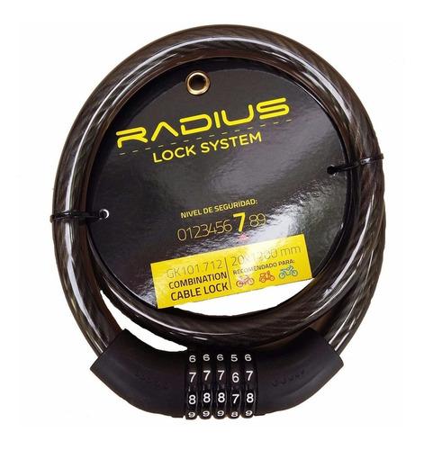 linga seguridad p/ bici radius 20mm cerradura combinación