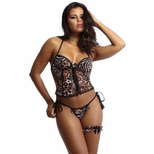 lingerie atacado sexy espartilho c/ 5 unid fantasias erotica