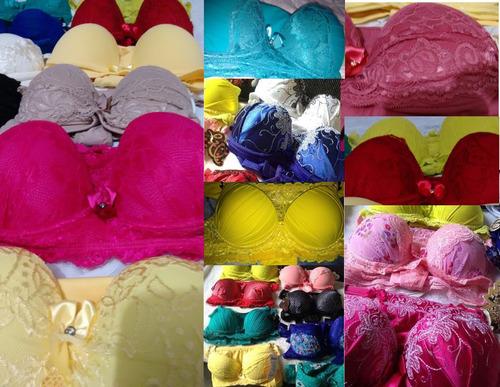 lingerie conjunto calcinha sutian bojo kit barato sortido