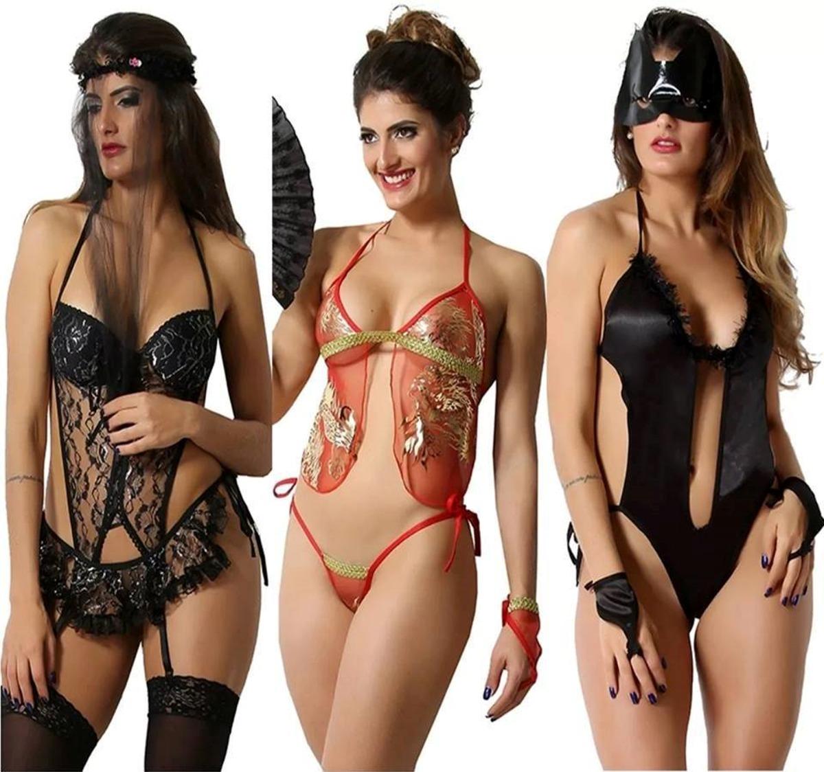 ced6d45d6 lingerie erotica kit com 3 moda sexy moda intima barata. Carregando zoom.