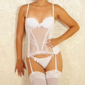 9c3f478e0 Branca Lingerie Espartilho Cinta Liga Branco - Moda Íntima e ...
