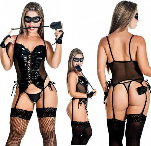 lingerie espartilho sensual fantasia tiazinha dominadora m