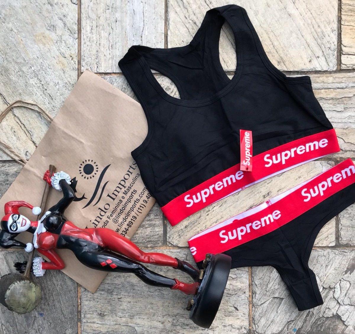 cf902db2e lingerie feminina conjunto calcinha fio dental e top nadador. Carregando  zoom.