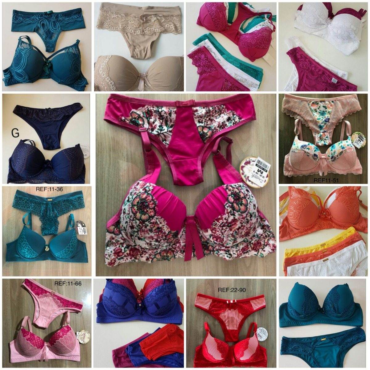4c8d6c34568c6 lingerie luxo atacado kit 25 conjuntos de lingerie c  bojo. Carregando zoom.
