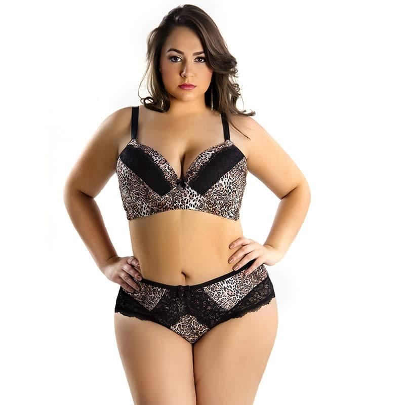438d2ce50 lingerie sensual de onça plus size conjunto calcinha e sutia. Carregando  zoom.