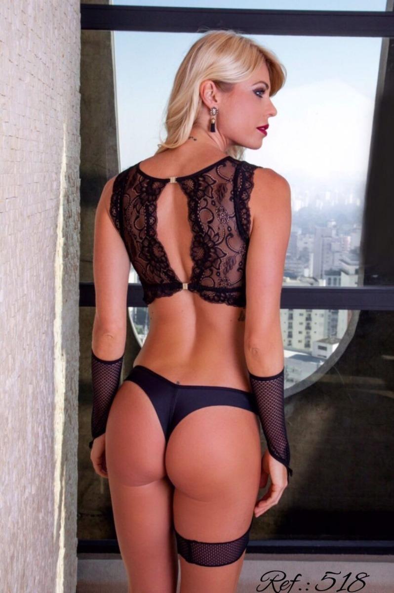 cb955ec40 lingerie sensual tipo top renda transparência conjunto sexy. Carregando zoom .