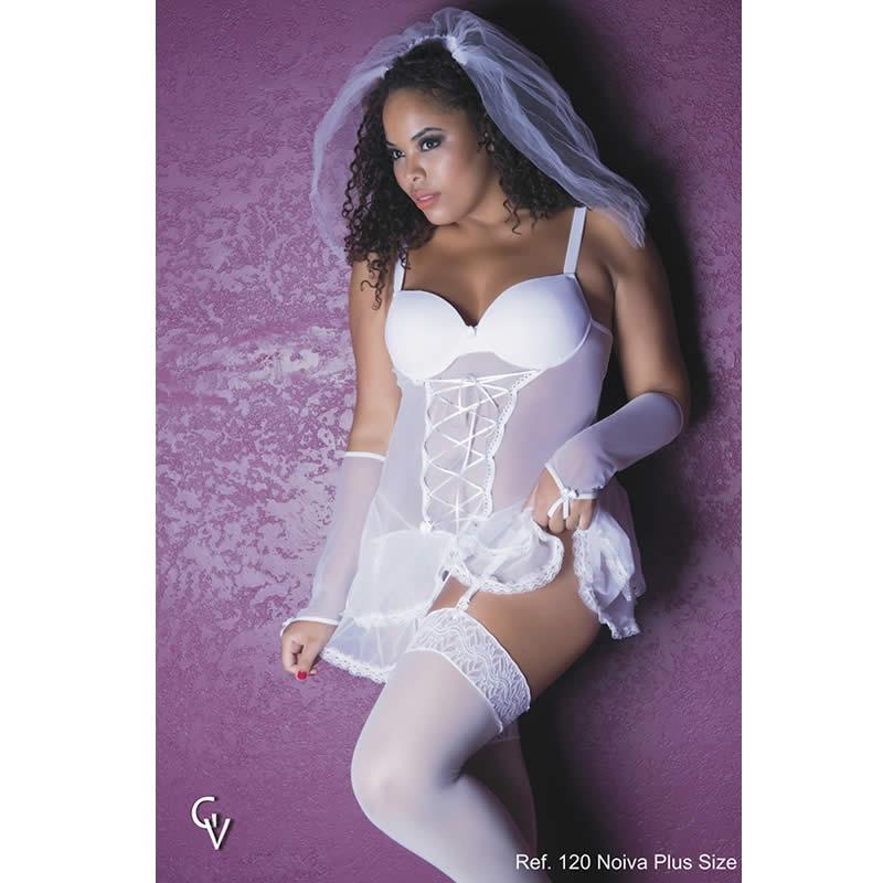 fb421d3ff lingeries sexys espartilho noiva plus size tam 48 50 52 54. Carregando zoom.