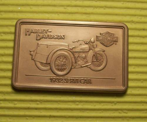 lingote de 1 onza de bronce harley davidson  1932