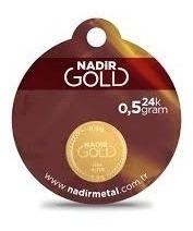 lingote de oro 0.5 gramo de 24 kilates oro fino nadir turq.