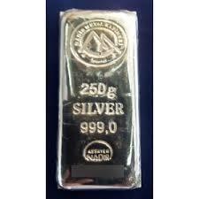 lingote de plata pura 999 de 250 gramos nadir certificado