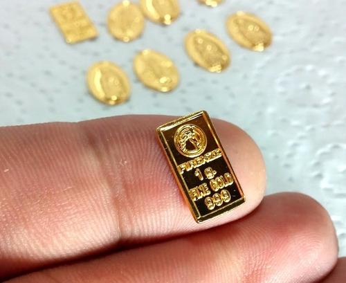 lingote en oro de 24 kilates ley 999 oro acuñado macizo