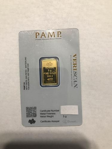lingote pamp de oro- 5 gr