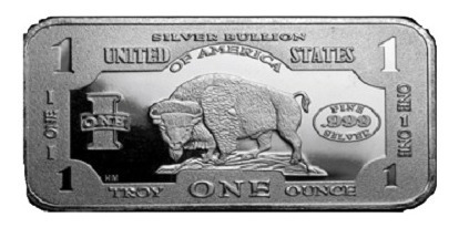 lingotes de plata fina de una onza