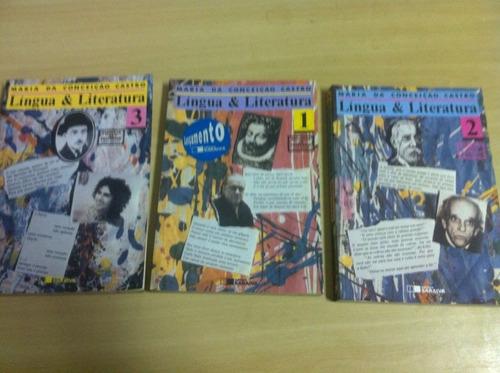 língua e literatura maria da conceição castro 3 volumes