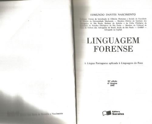 linguagem forense  edmundo dantès nascimento