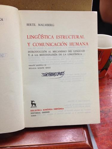lingüística estructural y comunicación humana. eulalia rodón