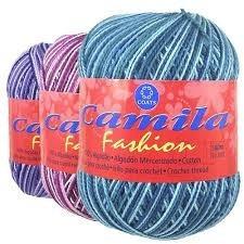 linha de chochê camila fashion 500m 100% algodão