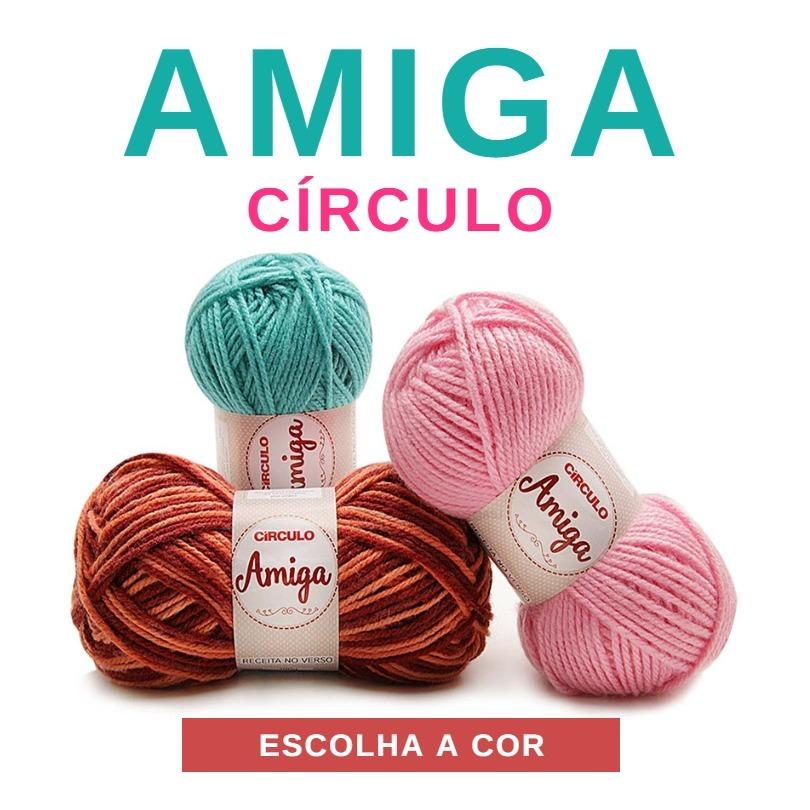 linha fio lã amiga 100g circulo para tricô e crochê. Carregando zoom. 69d6aeb1dc4