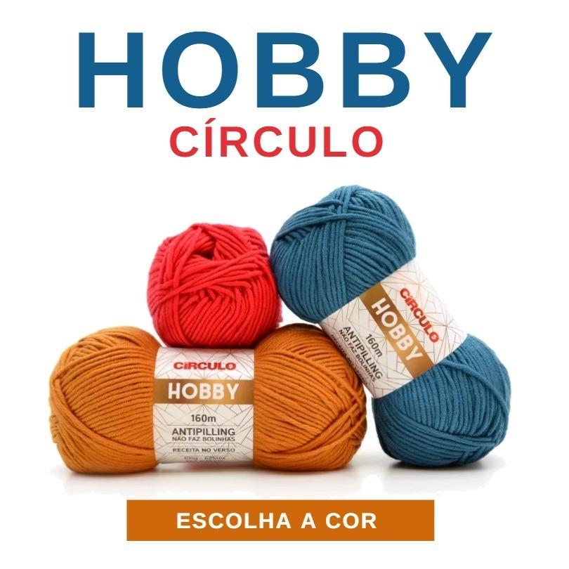 linha fio lã hobby 100g circulo para crochê e tricô - oferta. Carregando  zoom. 5183e261f22