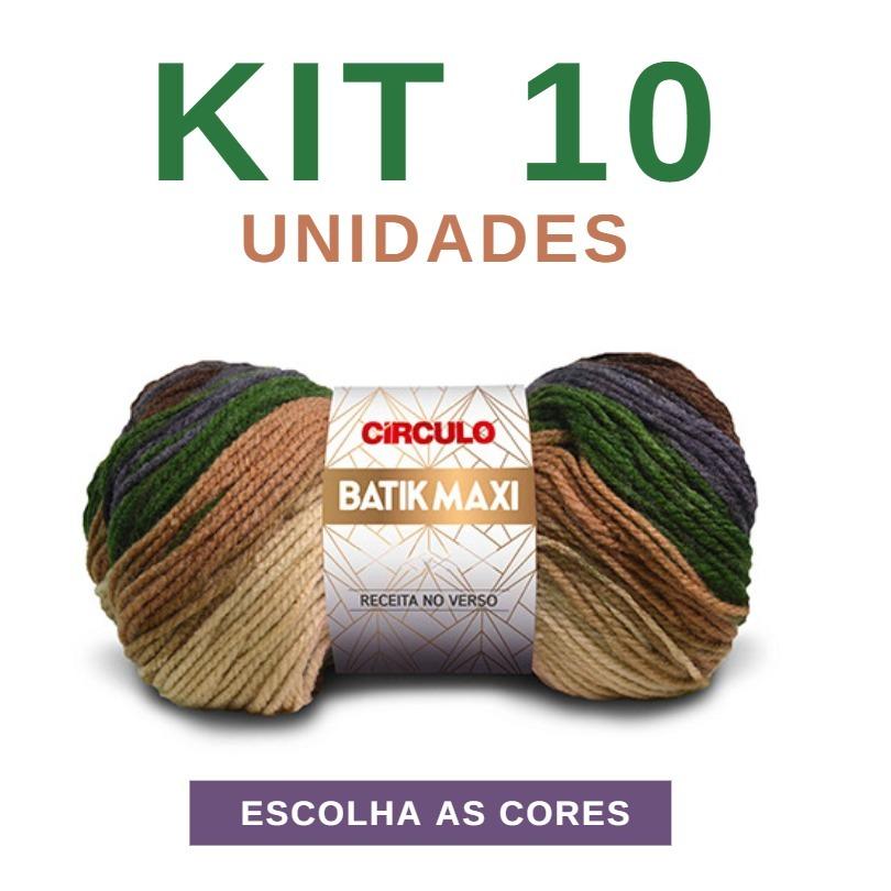 d808c912d2ee6 Linha Lã Batik Maxi 100g Circulo - Kit 10 Novelos - R$ 148,90 em ...