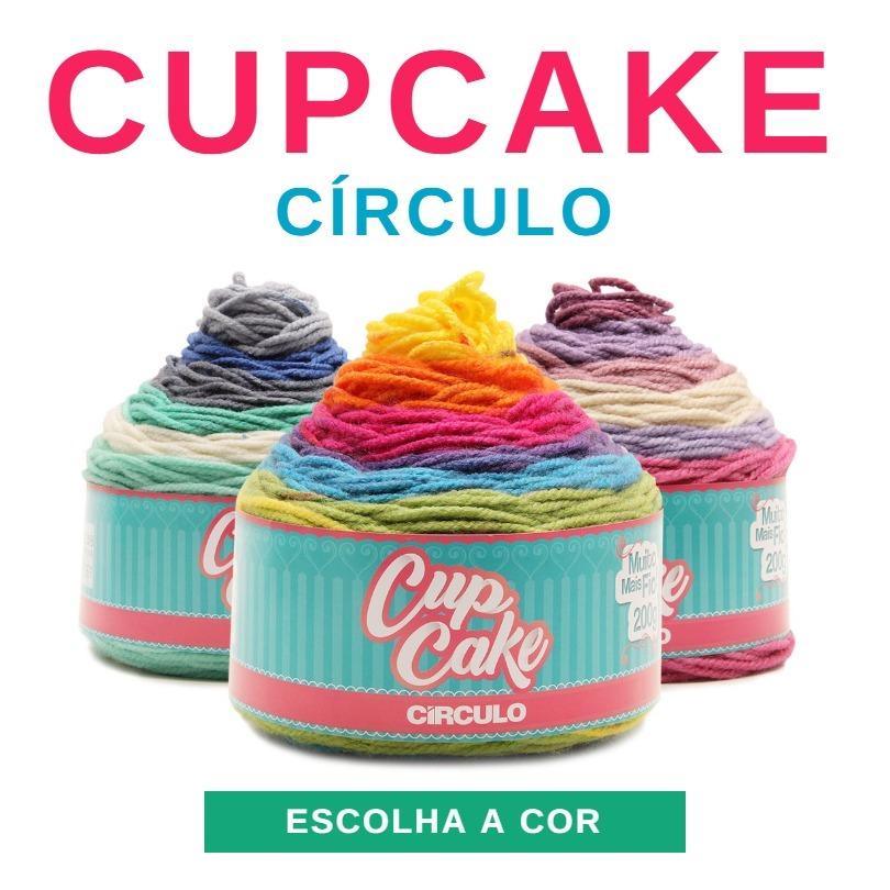 linha lã fio cupcake 200g circulo para crochê e tricô. Carregando zoom. e7929d0cc85