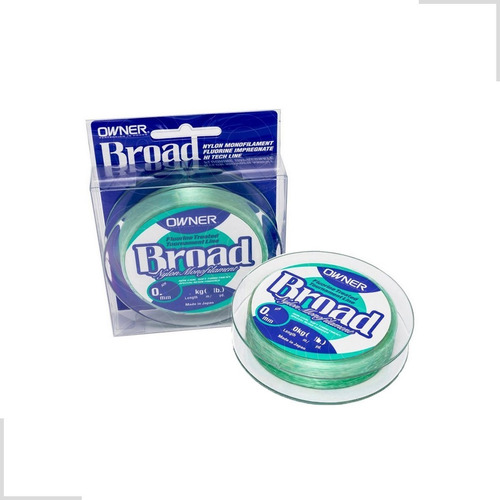 linha monofilamento broad owner verde 300 mts 0,16mm 6lbs