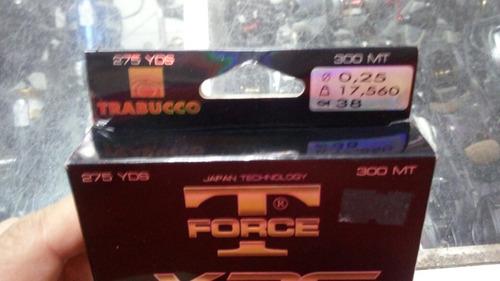 linha multifilamento 0.25mm trabuco xps tforce 300mts