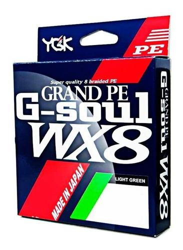 linha multifilamento 150metros wx8 grand pe  ygk g-soul