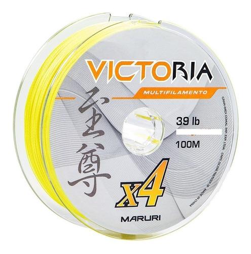 linha multifilamento maruri amarela medidas 0,14 0,18 0,27