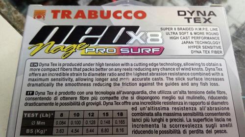 linha multifilamento neo x8 pro surf 0.10mm trabuco