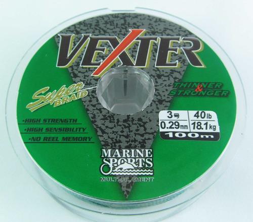 linha multifilamento vexter 0,15mm 15lb/6,8kg - 100 metros