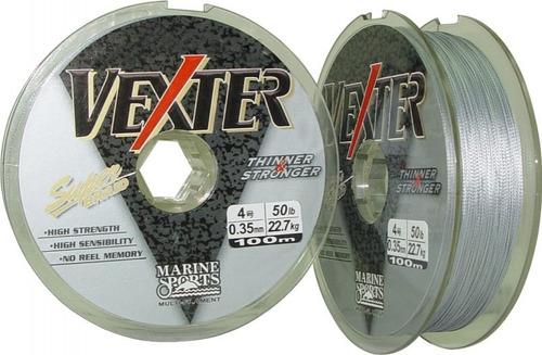 linha multifilamento vexter 0,35mm 50lbs 22kg 100m cinza