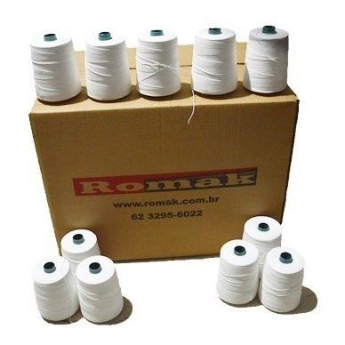 linha p/ costura de sacaria-80 cones linha 100% poliéster