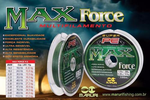 linha pesca multifilamento maruri max force 0.20mm|30lb 500m