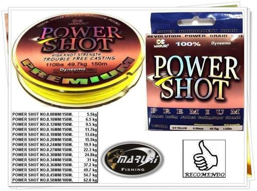 linha power shot - 50lbs ( 0,27mm ) - 150m - cor amarela
