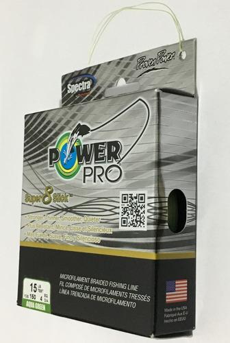 linha powerpro super 8 slick 10 15 20 30 40 50lb 150yd verde
