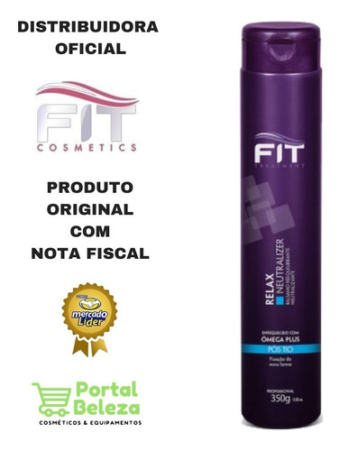 linha relax - relax neutralizer 350g - fit cosmetics