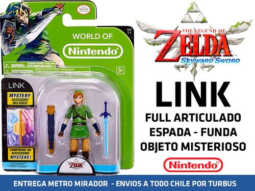 link legend of zelda figura y accesorios nuevo sellado