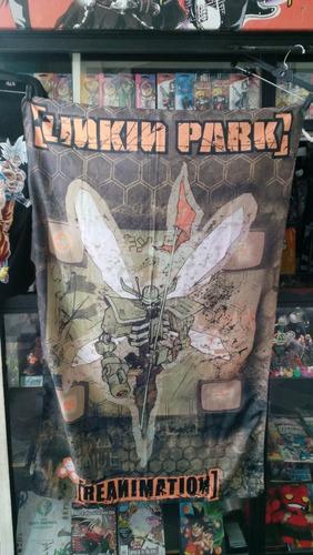 linkin park bandera rock heavy metal concierto original rare