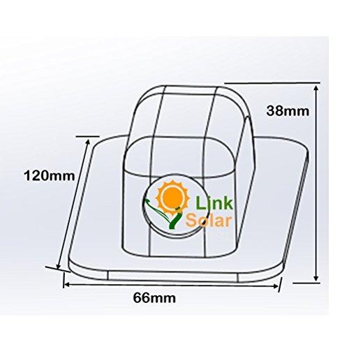 linksolar impermeable glándula abs solar entrada de cable c