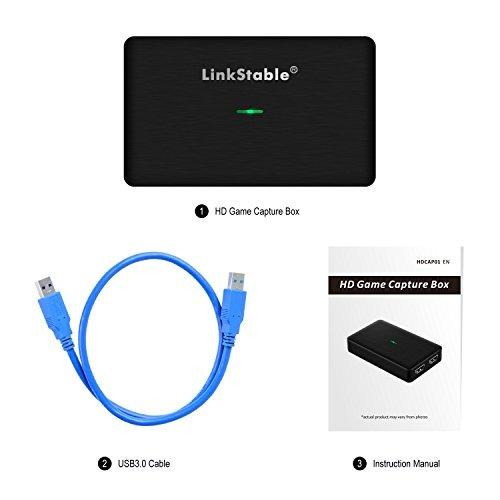 linkstable hd juego dispositivo de captura de video 1080p 60