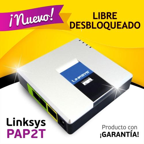 linksys pap2 / pap2t , para minutos voip envio gratis