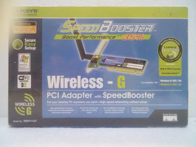 DRIVER: LINKSYS WIRELESS G SPEEDBOOSTER PCI ADAPTER