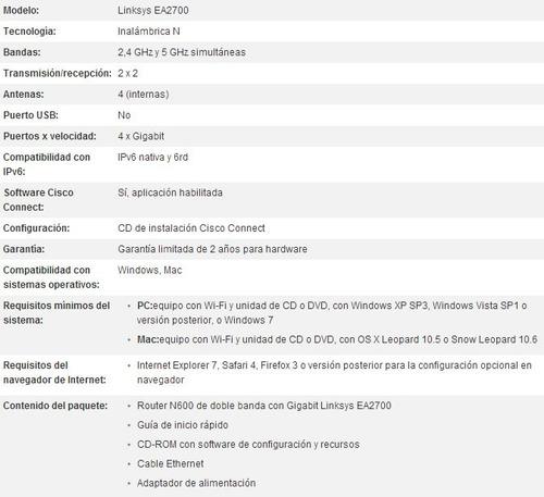 linksys router dual-band n600 gigabit ea2700 (gadroves)