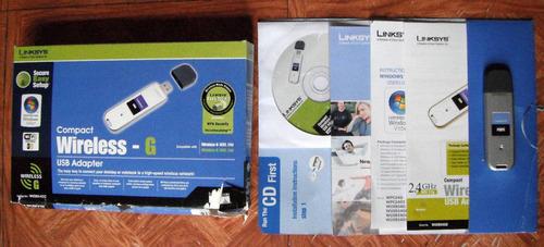 linksys w u s b  54 g c usb adaptador compact wireless - g